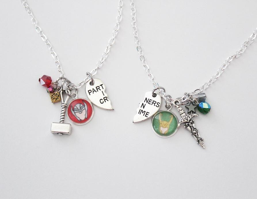 Thor and Loki Friendship Necklace Set #relationships