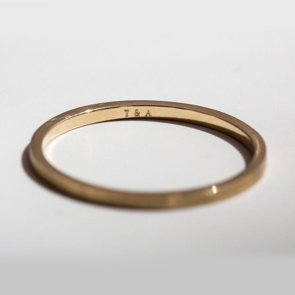 catbird classic wedding bands flat band 1mm - Flat Wedding Rings