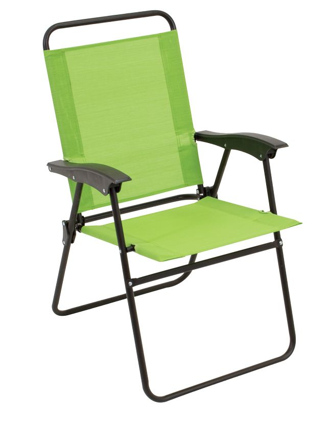 Folding Sling Chair With All Weather Fabric Lime