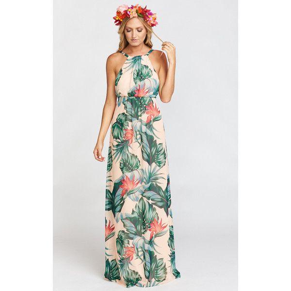 Amanda Maxi Dress Kauai Kisses (¥21,060) ❤ liked on Polyvore ...