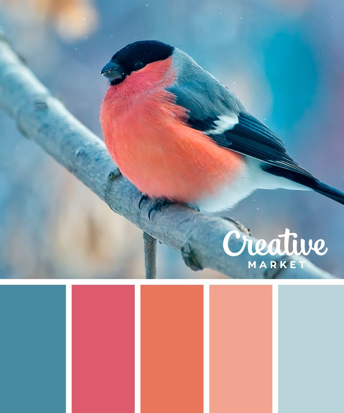 On the Creative Market Blog - 15 Downloadable Color Palettes For Winter #DIYHomeDecorArt #livingroomcolorschemeideas
