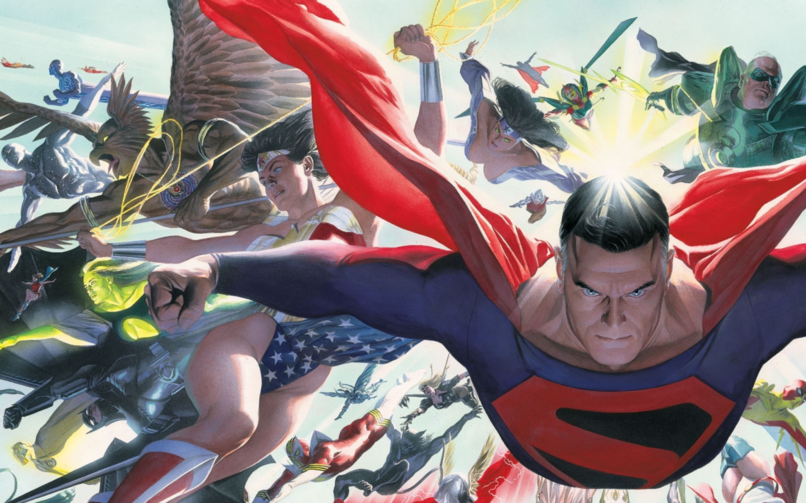 Green Lantern Batman Superman Alex Ross Kingdom Come Wonder Woman