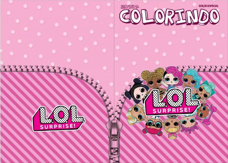 Revista Colorindo Lol Surprise Kit Festa Estampas Lol Kit