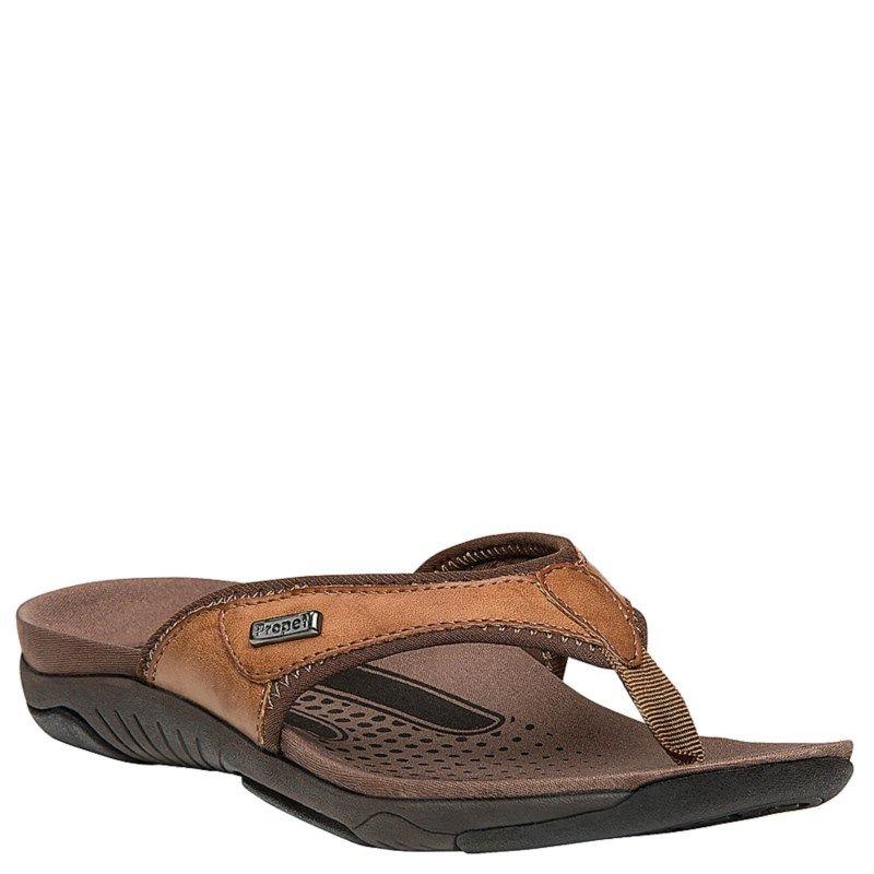 Propet Womens Hartley XT NarrowMediumWide Flip Flop Sandals Brown