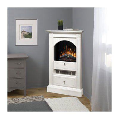 Dimplex Chelsea White Corner Electric Fireplace At Hayneedle Corner Fireplace Corner Gas Fireplace White Corner Electric Fireplace