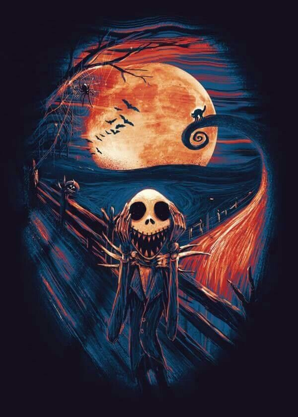 Tim Burton Nightmare Before Christmas Artwork.Scream In Your Head Tattoo Ideas Nightmare Before