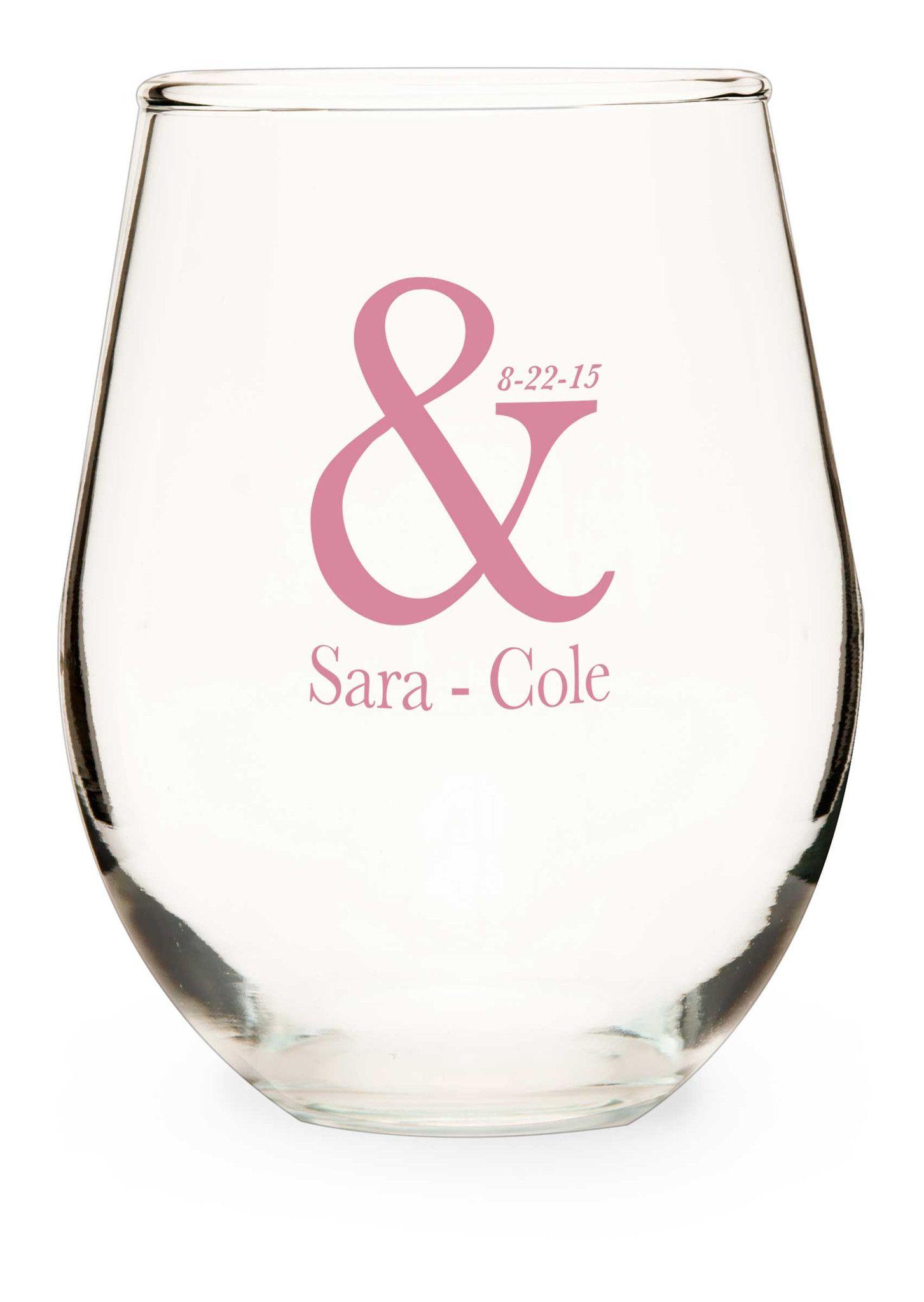 Stemless Wine Glass, wedding candles, wedding glasses, wine  glasses, wedding wine glasses, personalized wine glasses, anniversary glasses, personalized wedding glasses