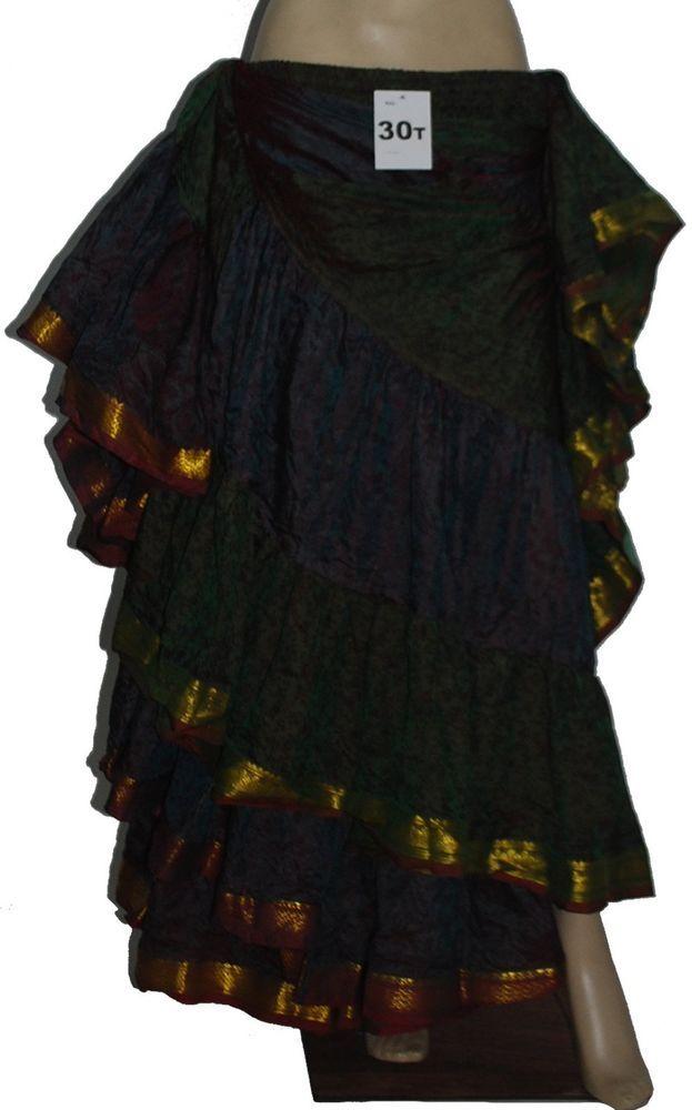 25 Yard Long Gypsy Tribe Skirt  Zari Border #no #seedescription