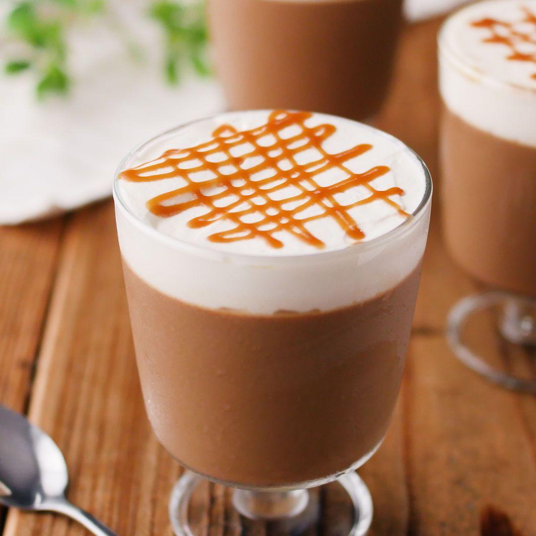 コーヒー香る キャラメルマキアートプリン Macaroni レシピ プリン ゼリー レシピ キャラメル