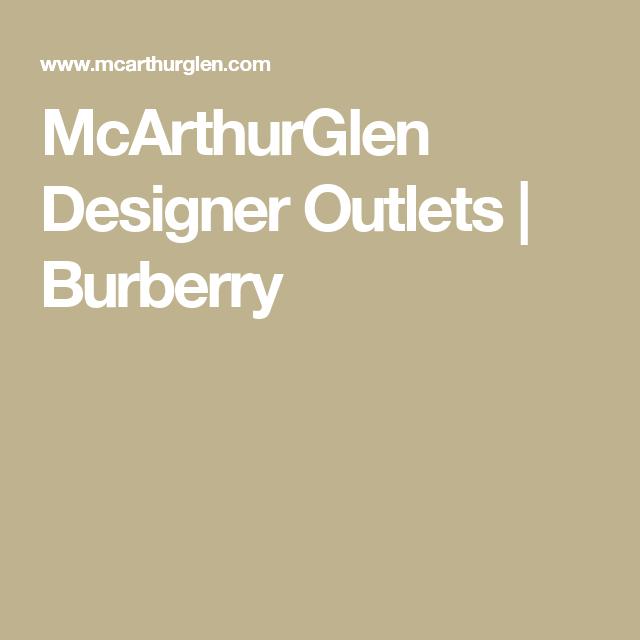 McArthurGlen Designer Outlets | Burberry