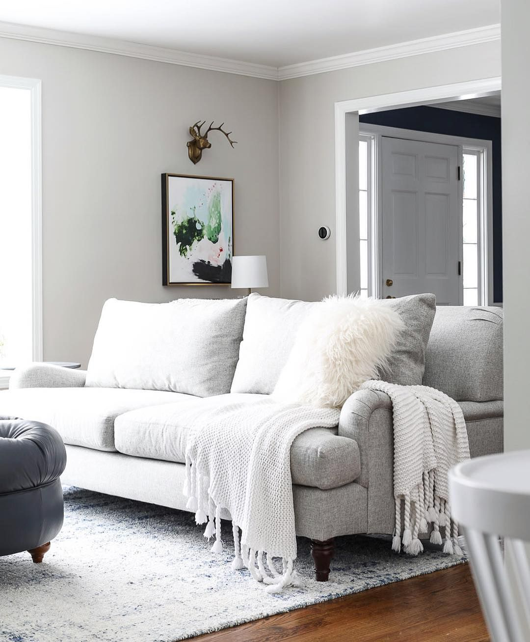 Since A Few Of You Were Asking Today On The Blog I M Sharing All The Details On My New Living Room Sofa Lin New Living Room Upholstered Sofa Living Room Sofa