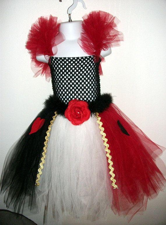 Queen of Hearts inspired tutu dress costume   Red queen