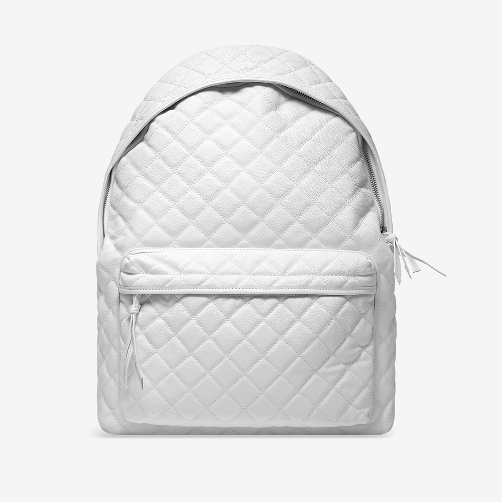 Perfect White Leather Backpacks | Cg Backpacks QB36