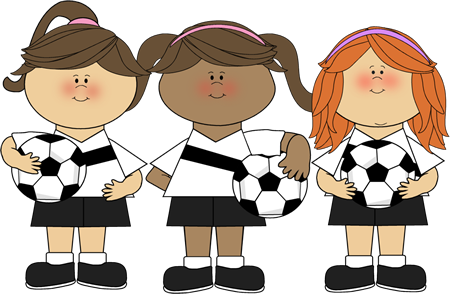 Girl Soccer Players Clip Art Girl Soccer Players Image Kids Soccer Soccer Theme Soccer Quotes Girls
