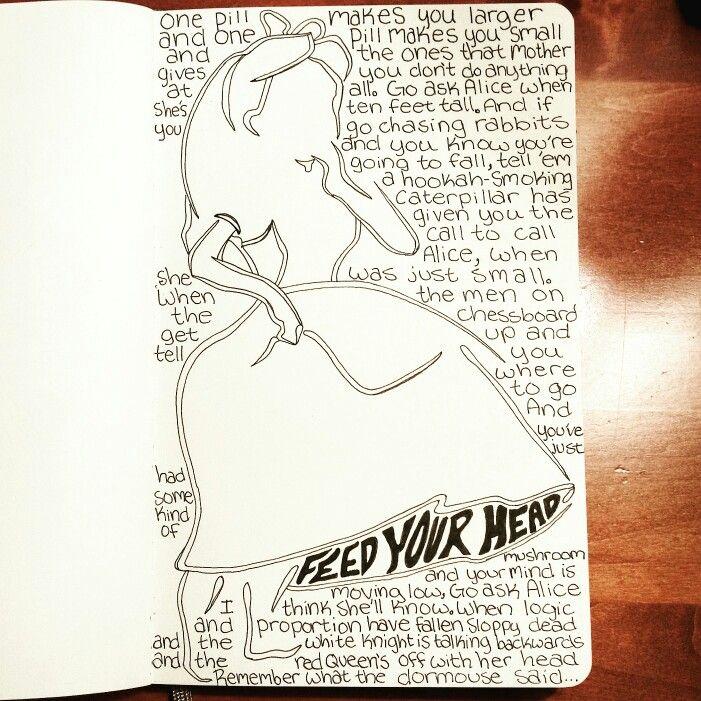 Go Ask Alice -- White Rabbit artwork •â—‹• Alice in Wonderland ...