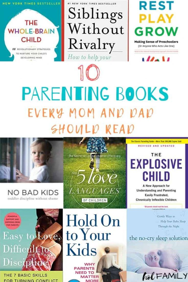 10 Best Parenting Books Every Mom and Dad Should Read is part of Best parenting books, Parenting books, Smart parenting, Good parenting, Books for moms, Parenting discipline - Parenting can be challenging! These ten parenting books are must reads for all moms and dads looking for solutions to go from surviving to thriving as parents