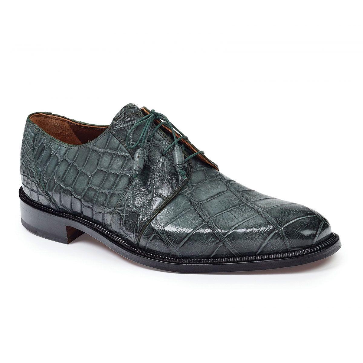 Fennix 3228 Alligator Skin Exotic Italian Shoes Grey Oxfords(FX2118) 32a7cf094d1