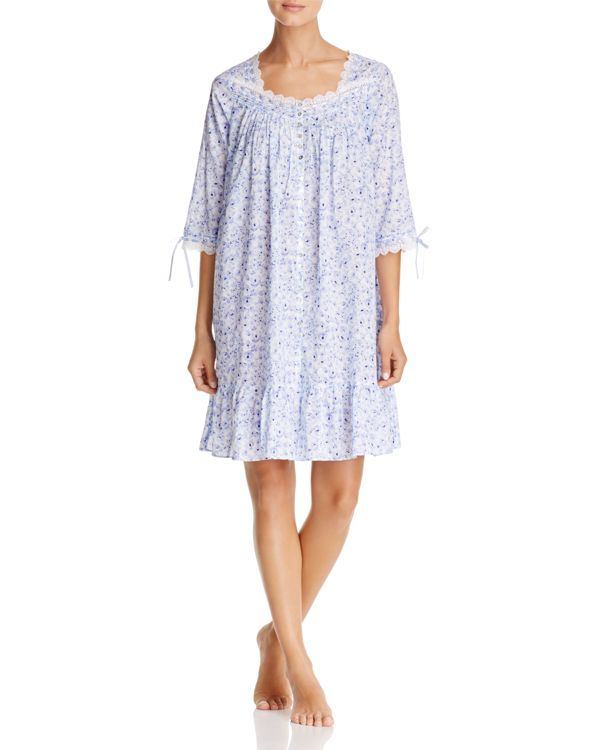 Eileen West Lawn Long Sleeve Short Gown