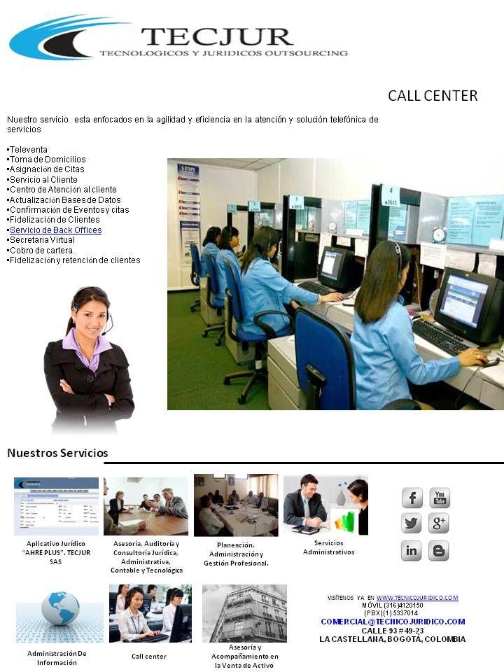 Servicio de Call Center http://tecjur.wix.com/tecjursas#!servicios-y-productos-/cskj