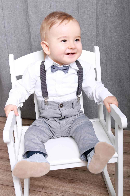 festlich - moderner taufanzug für jungen der vierteile anzug