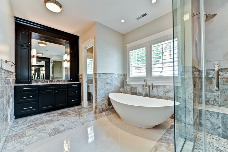 Master Bathrooms With Freestanding Tubs Marble Master Bath And Free Standing Tub Beach House Mo Free Standing Bath Tub Free Standing Tub Modern Master Bath