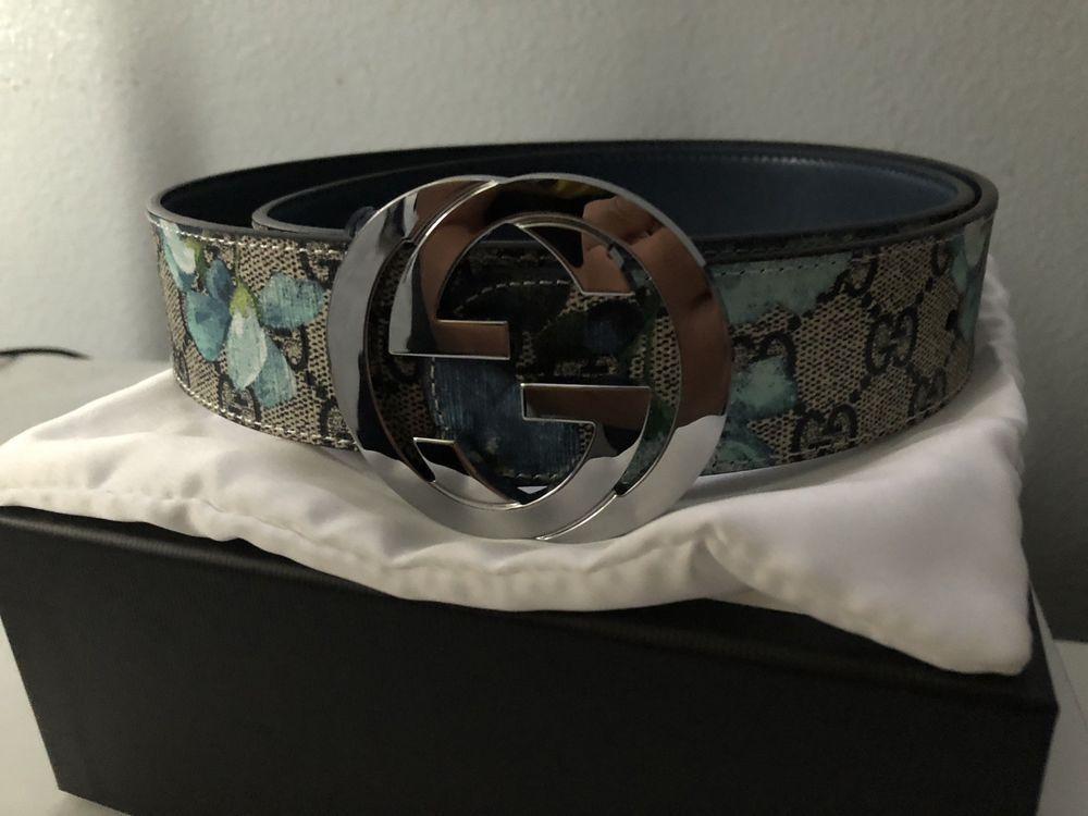 13406d937 Gucci Men's Beige/Blue Supreme Bloom Blue Floral Belt #fashion #clothing  #shoes #accessories #mensaccessories #belts (ebay link)