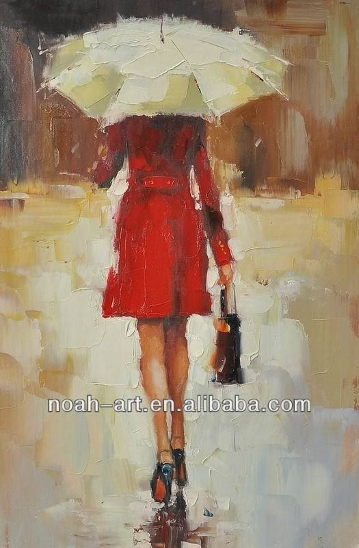 Woman Oil Painting ,umbrella oil painting, View Woman Oil ...