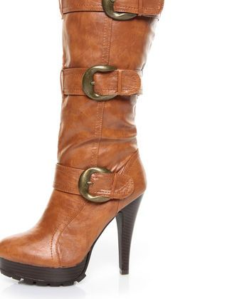 High Knee Revenge Chestnut Heel 17n Buckled Michelle Anne Boots qzUVMpS
