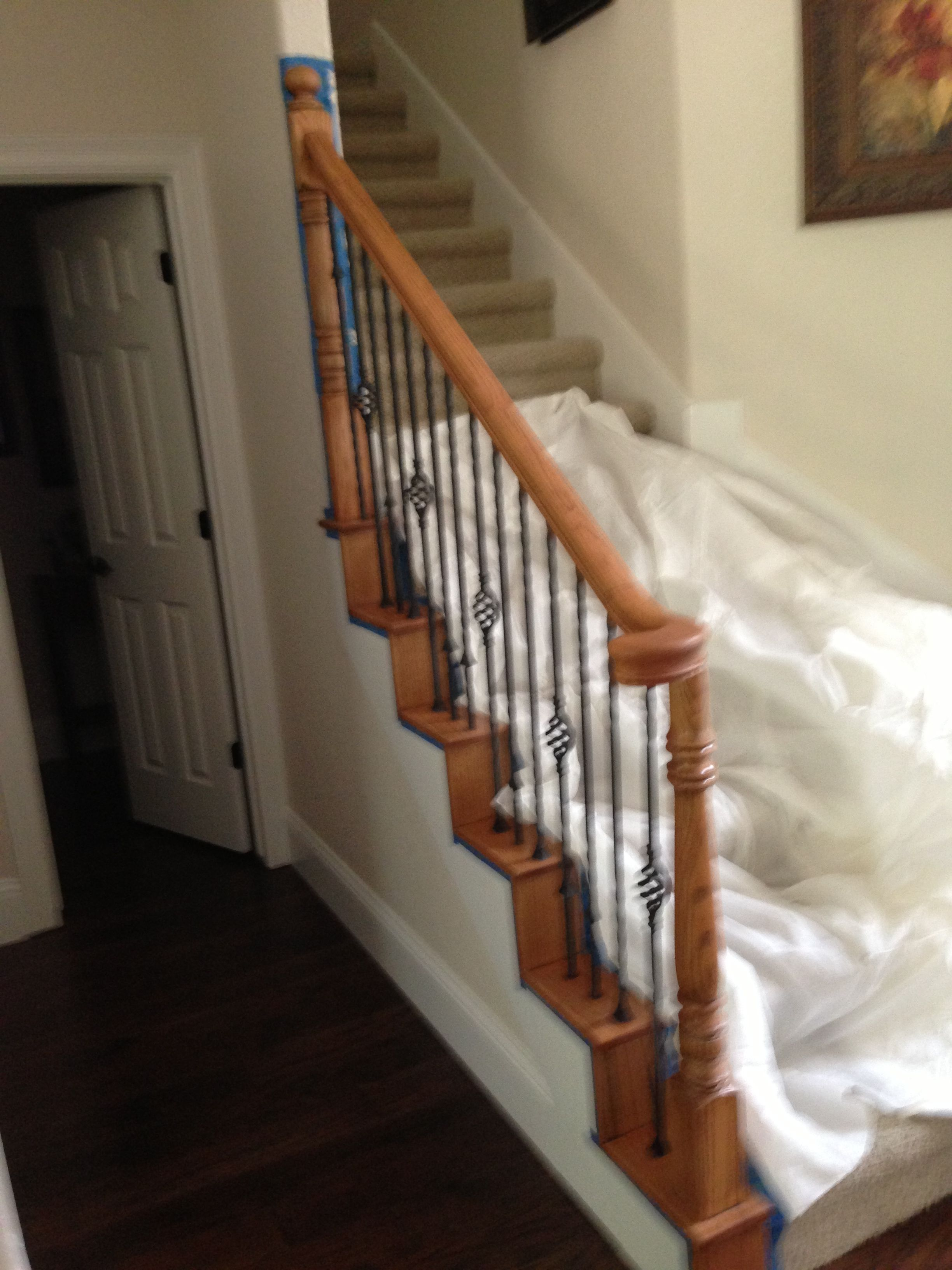Best If You Have A Golden Oak Stair Rail That Ages Your House 400 x 300
