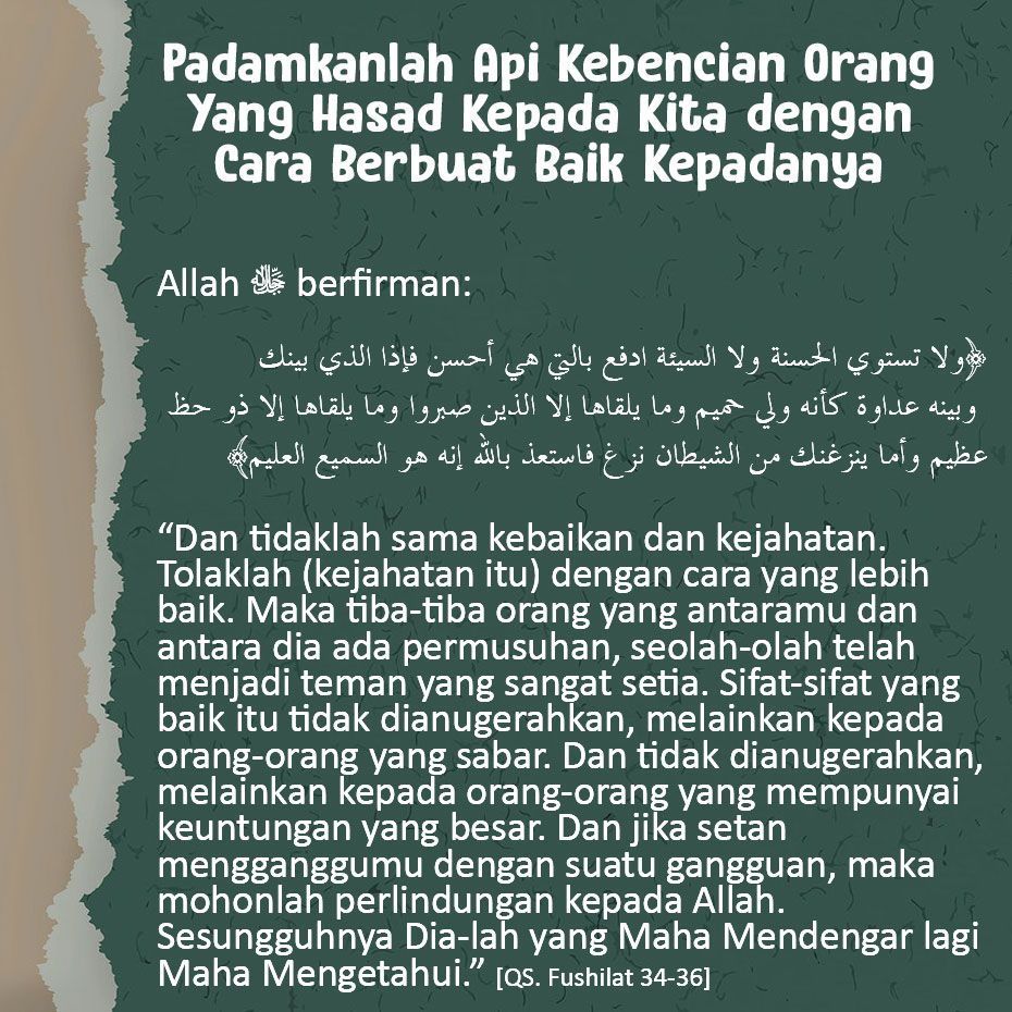 Apakah Kita Mampu Berbuat Baik Pada Orang Yang Hasad Islam Quran Islam Quotes