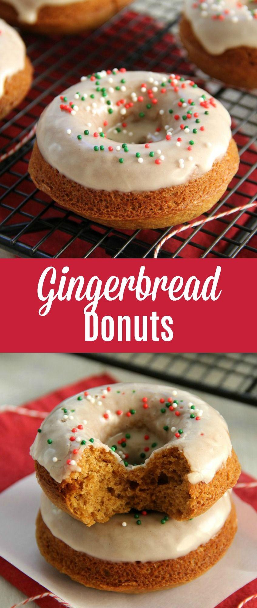 Gingerbread Donuts Dessert Baked Christmas Desserts Breakfast Muffins