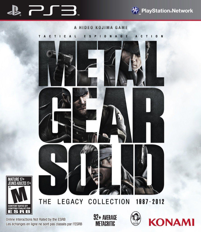 Metal Gear Solid The Legacy Collection Video Games Juegos De Ps3 Descarga Juegos Descargar Juegos Gratis