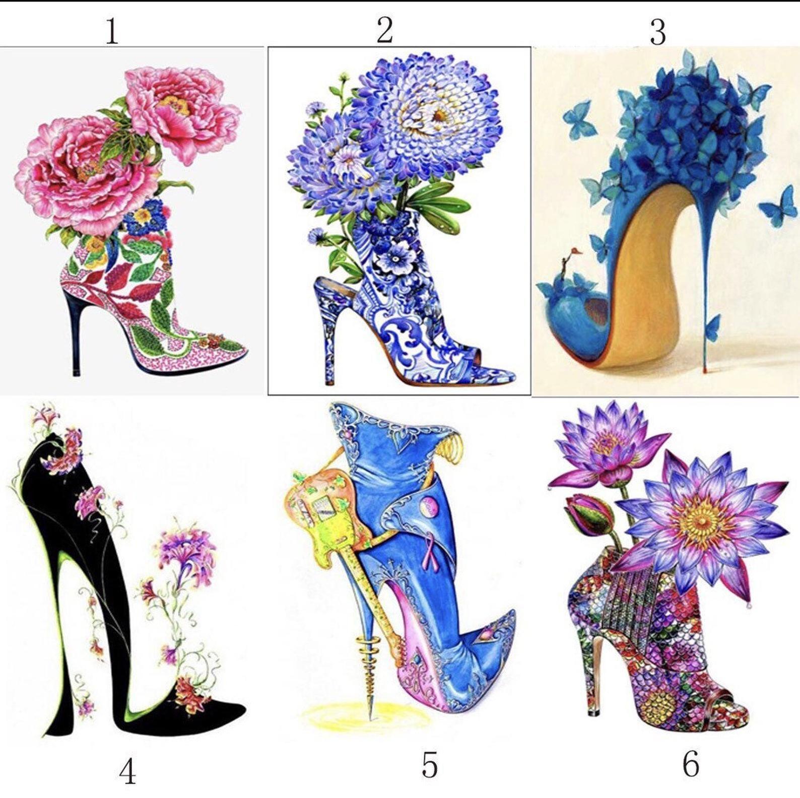 5d diy diamond painting kit flower heels cross stitch kit