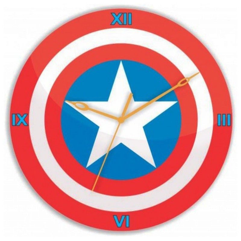 Online Gloob Wooden Captain America Logo Wall Clock (GLWD041) Store India, Online shopping for Gloob Wooden Captain America Logo Wall Clock (GLWD041) with great Deals & discounts at Varighty.com