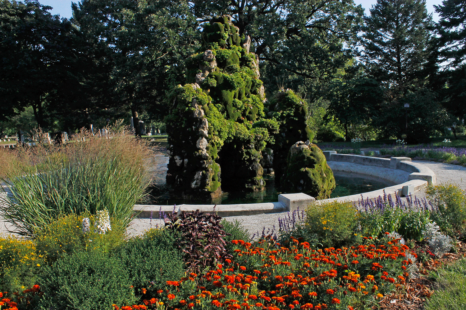 """Established in 1850 by the founders of Milwaukee, Forest Home now embraces 200 acres of dignified beauty with more undeveloped land than the total area of most cemeteries in the United States. Our historical significance has earned Forest Home the designation as an official Milwaukee landmark & a listing on the National Registry of Historic Places. Forest Home is a rare """"Garden Cemetery"""" with sun-graced grass, fountains, lake, thousands of trees & roads winding through soothing English…"""