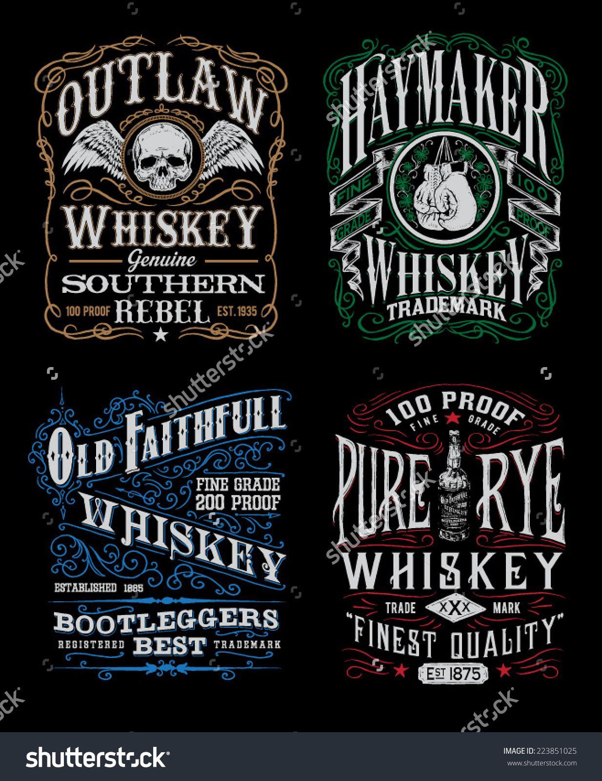 GOOG959.77 (0.67) Whiskey label, Vintage alcohol