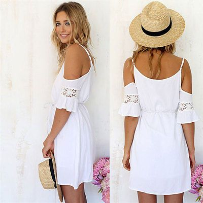 Summer Casual Sexy Womens Sleeveless Party Evening Cocktail Short Mini Dress New