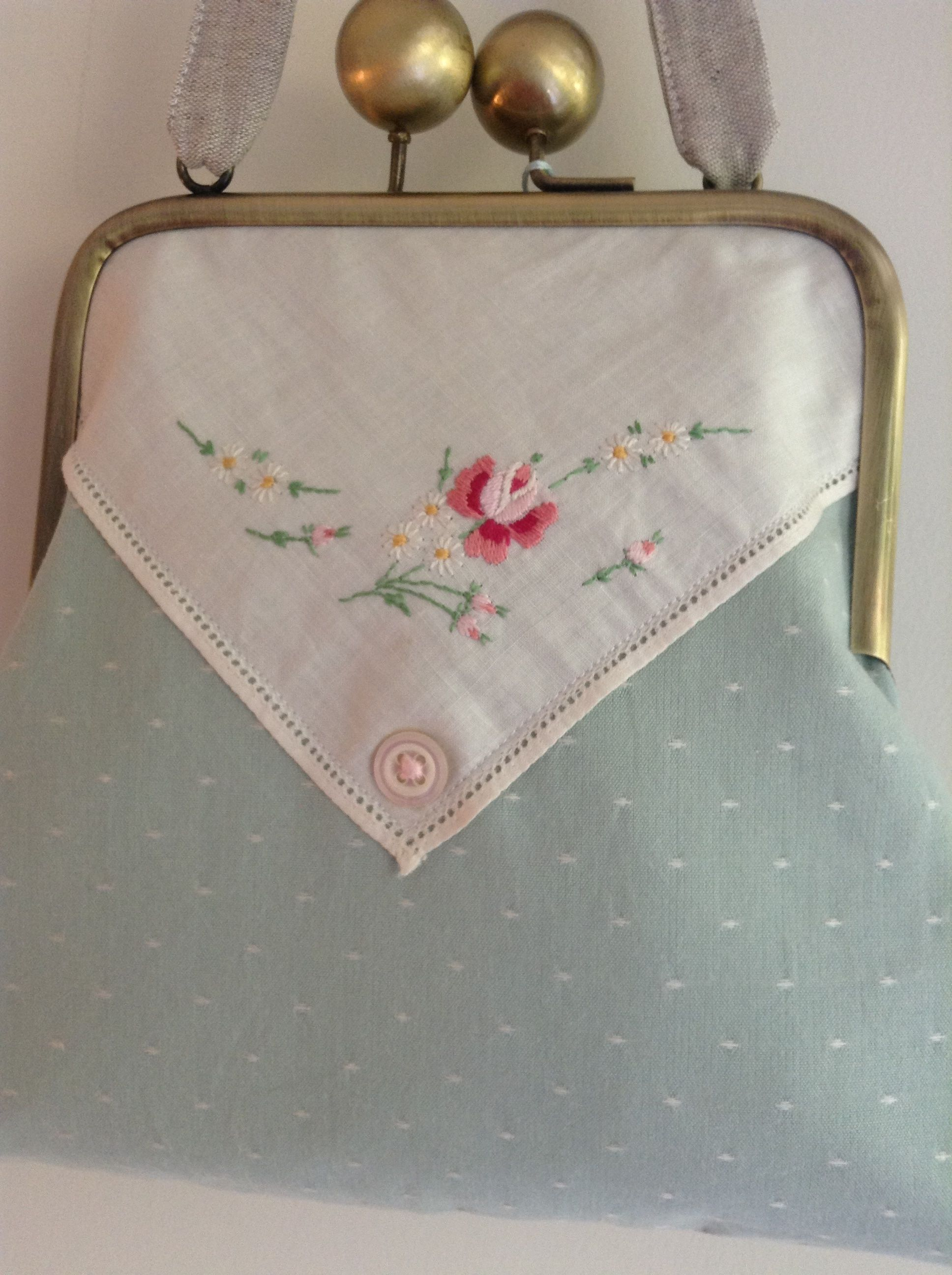 Vintage hankie bag by La Lilly Bea Boutique.