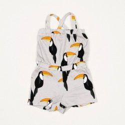 Mini Rodini Tucan Summersuit Grey // poppyscloset.com
