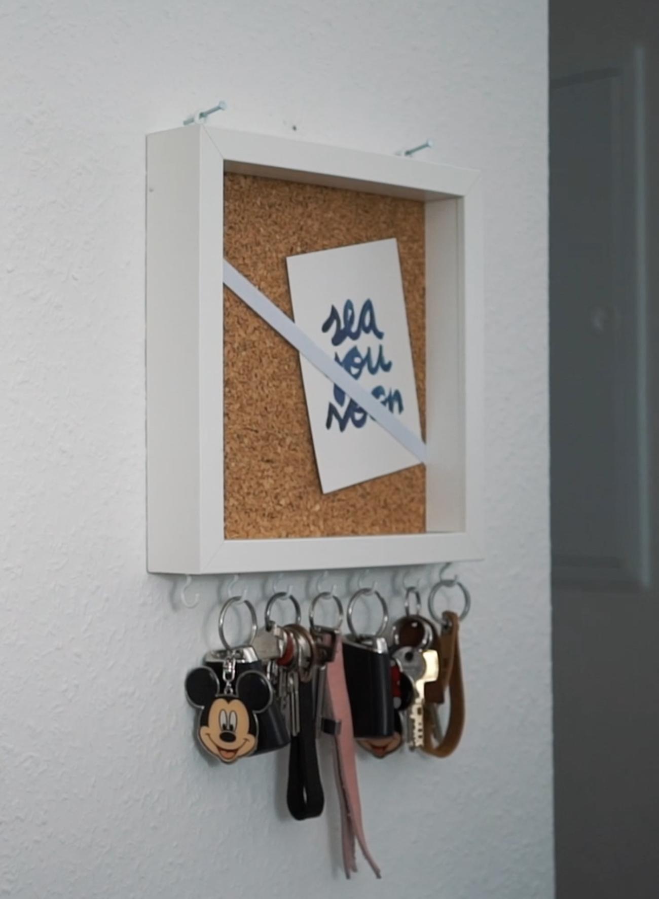 ikea schl sselkasten diy ganz einfach selbst machen meine projekte pinterest. Black Bedroom Furniture Sets. Home Design Ideas