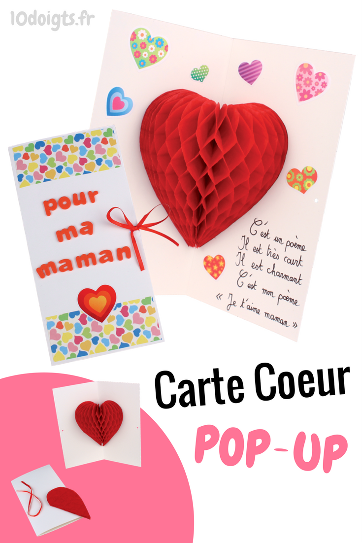 Carte Pop Up Coeur 3d Cartes Et Poemes De Fetes Cartes Pop Up