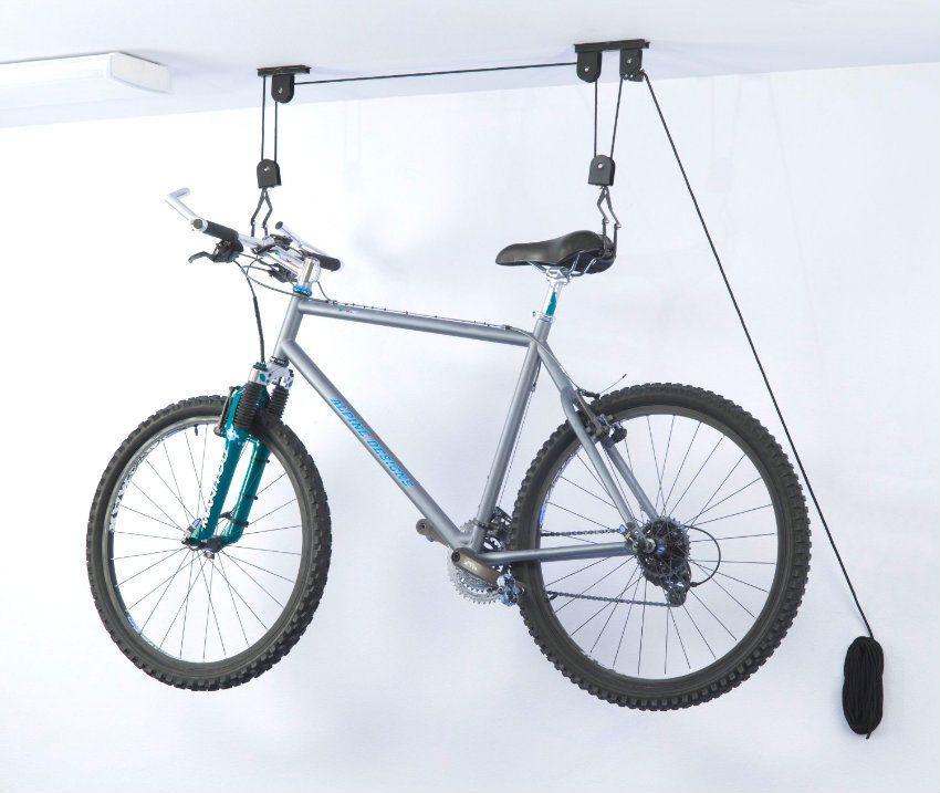 Bike lift hanger hoist ceiling mount with this