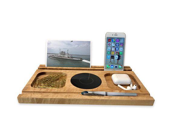 Docking Station Wireless Phone Charger Amp Desk Organizer