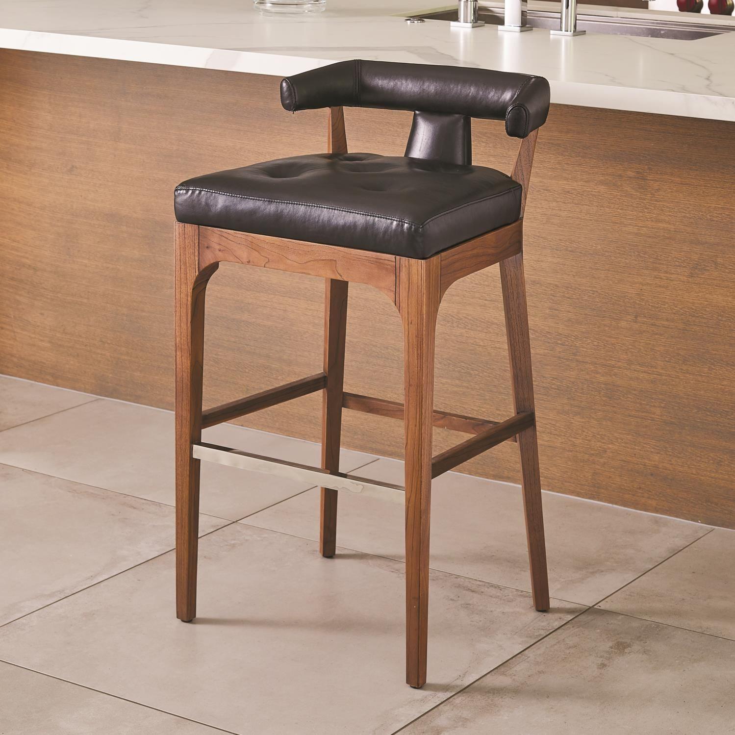 Awesome Moderno Bar Stool Black Marble Leather Dining Room Creativecarmelina Interior Chair Design Creativecarmelinacom