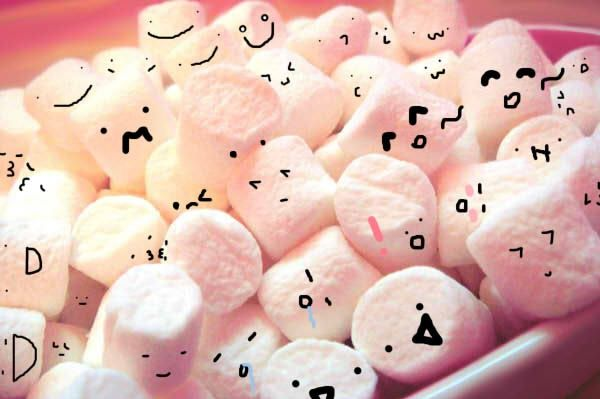 Pin By Kayla On Marsmallws With Cute Kawaii Faces Cute Marshmallows Cute Wallpaper Backgrounds Cute Wallpapers