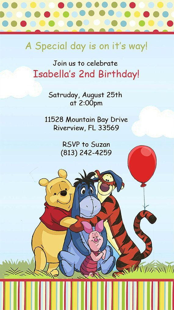 First birthday invitations winnie the pooh winnie the pooh first birthday invitations winnie the pooh winnie the pooh invitations by designsbysuzan on etsy 050 filmwisefo