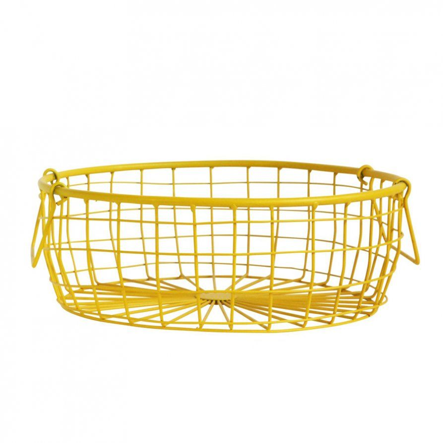 Wire Fruit Bowls Wire Fruit Bowl Basket Yellow Interiors Wire Baskets Home