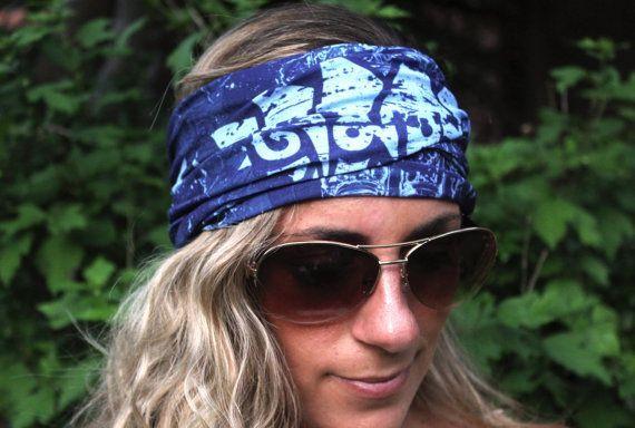 BUY 2 GET 1 FREE!! Buddha Blue Yoga Headbands, Fitness Headband, Workout Headband, Top Selling Item,...