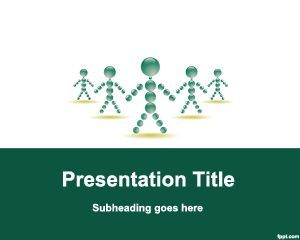 staff powerpoint template is a green template with avatars and, Powerpoint templates