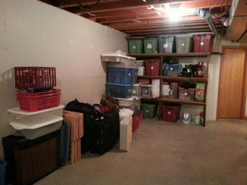 ideas on how to organize a basement need totes and labels sort rh pinterest com